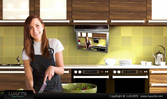 flip down tv,kitchen tv
