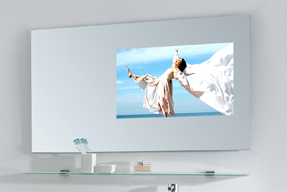 glass tv mirror tv principle