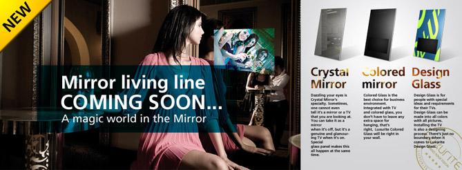 luxurite design mirror tv
