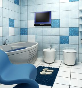 luxurite bathroom tv