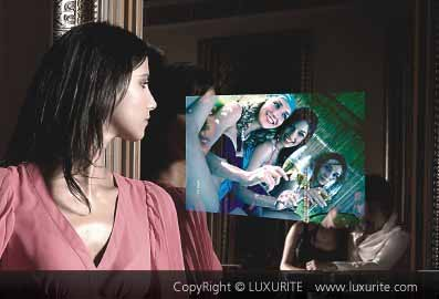 LUXURITE mirror glass tv